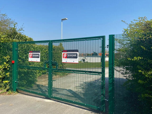 British Geological Survey gates with Foremost Security signage
